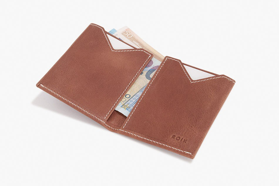 Cartera de piel ROIK Land Wood