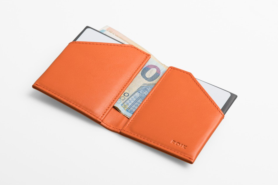 Cartera de piel Roik City Orange