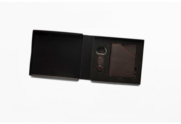 Zip Coin Dark Brown Gift Set