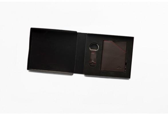 Zip Coin Dark Brown Gift Set