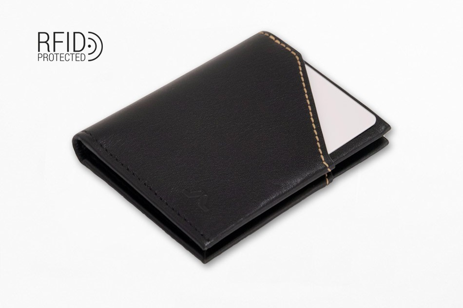 Cartera de piel ROIK City Black