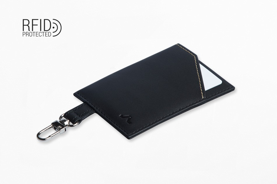 Cartera de piel ROIK Cards and Keys Black