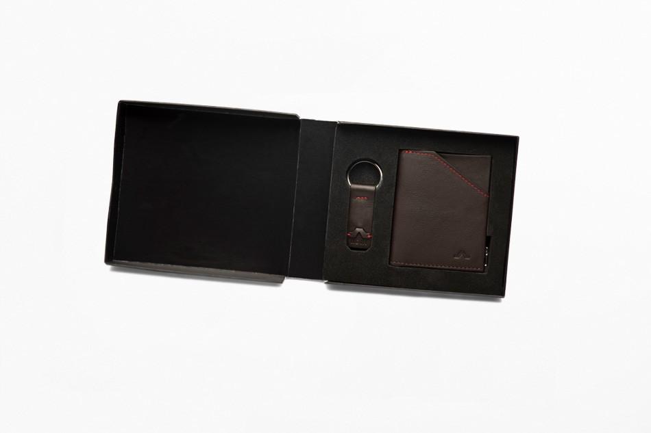 Zip Coin Brown Gift Set