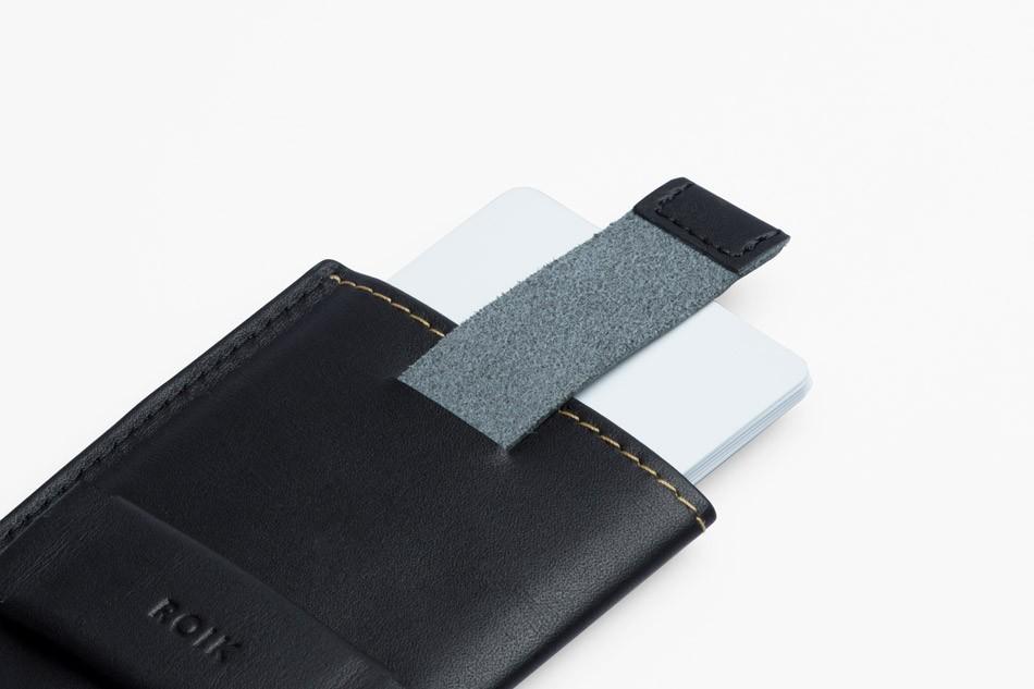 Cartera de piel ROIK Cards and Keys Black